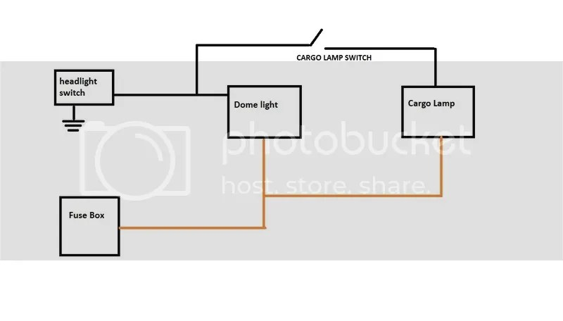 cargo light wiring diagram electric heat furnace question the 1947 present chevrolet gmc mean that you would have to dome lamp turned on make work is this correct i ve made a of what m thinking below