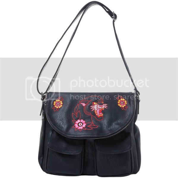 Women' Sourpuss Panther Nomad Purse Black Neo Traditional