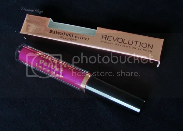 Makeup Revolution Salvation Velvet Lip Lacquer, Rebel. Out the box