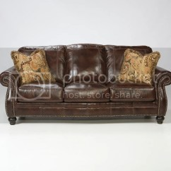 Genuine Leather Sofa And Loveseat Navy Blue Sleeper Ashley Traditional Brown Couch