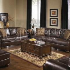 Genuine Leather Sofa Sets Kasala Sleeper Ashley 42000 Traditional Natural Walnut