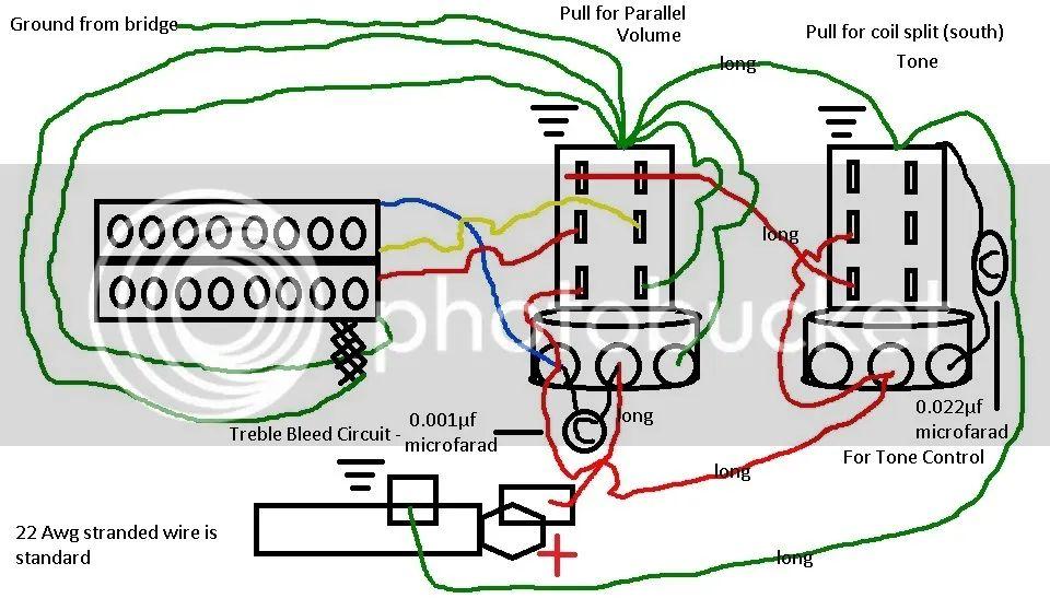 1 humbucker plus 1 single coil wiring diagram