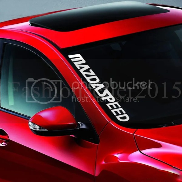 MAZDA SPEED Front Windshield Side Decal Vinyl Car Stickers
