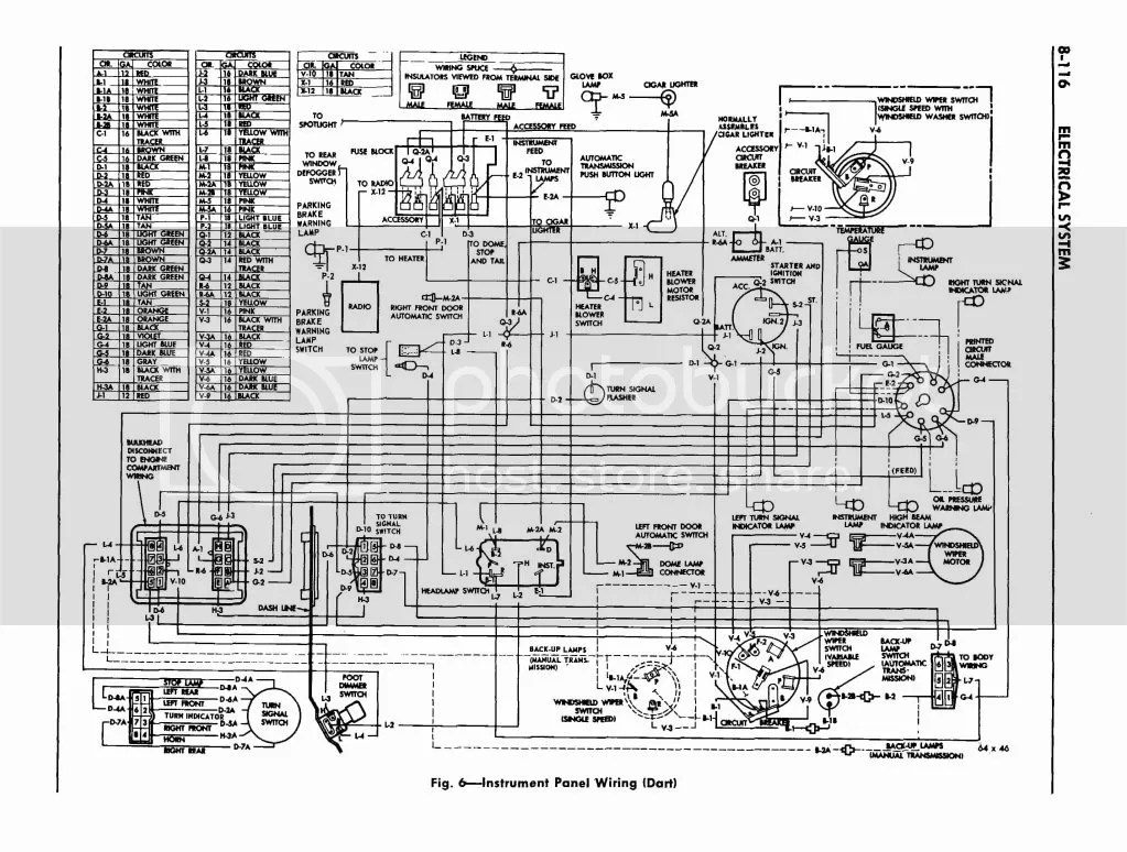 1970 dodge dart ignition wiring diagram chevy hei distributor 64 data 1964 instrument cluster electrical routing slant six forum system