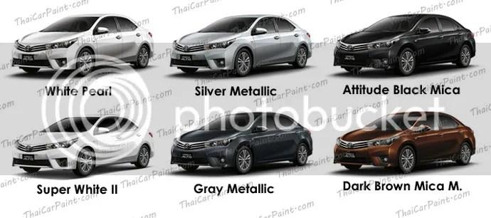 สีแต้มรถ...สำหรับ Toyota Altis (โตโยต้า อัสติส)