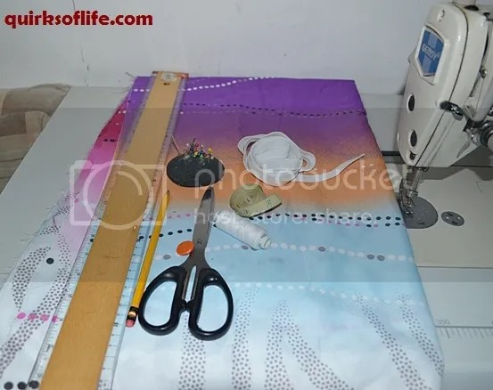 Fitted bed sheet making materials