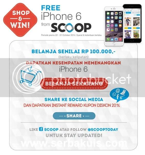 Promo Berhadiah iPhone 6 dari SCOOP