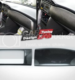 carbon dash kit board radio cover for scion frs fr s toyota gt86 subaru brz [ 1024 x 768 Pixel ]