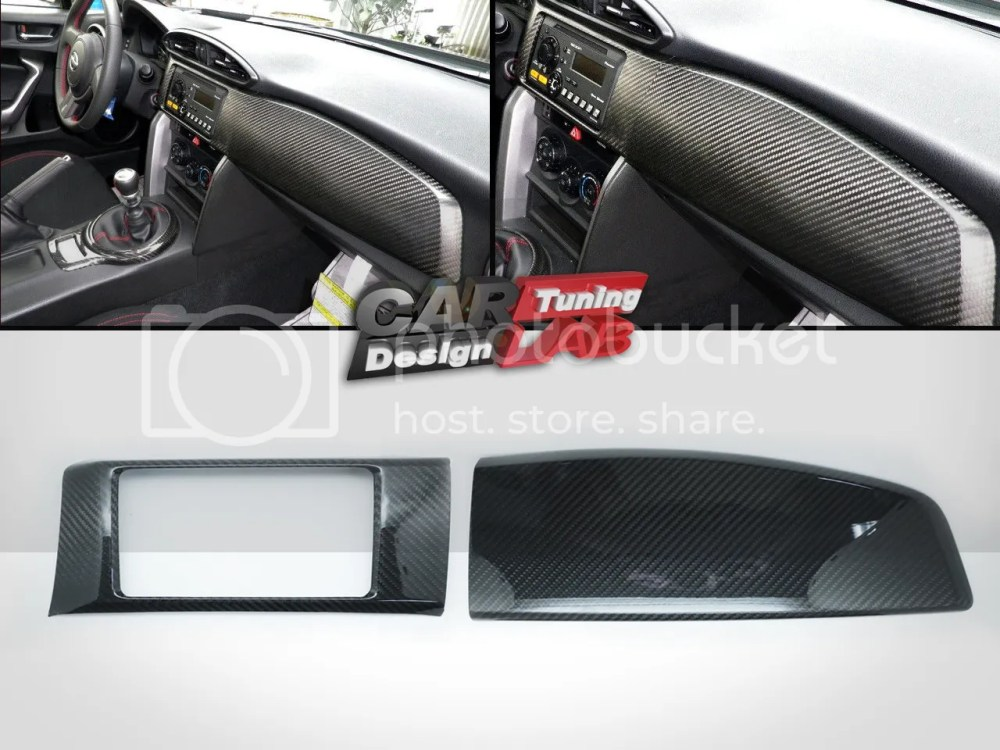 medium resolution of carbon dash kit board radio cover for scion frs fr s toyota gt86 subaru brz