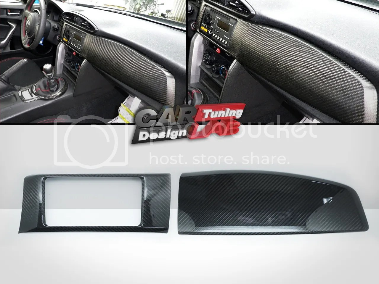 hight resolution of carbon dash kit board radio cover for scion frs fr s toyota gt86 subaru brz