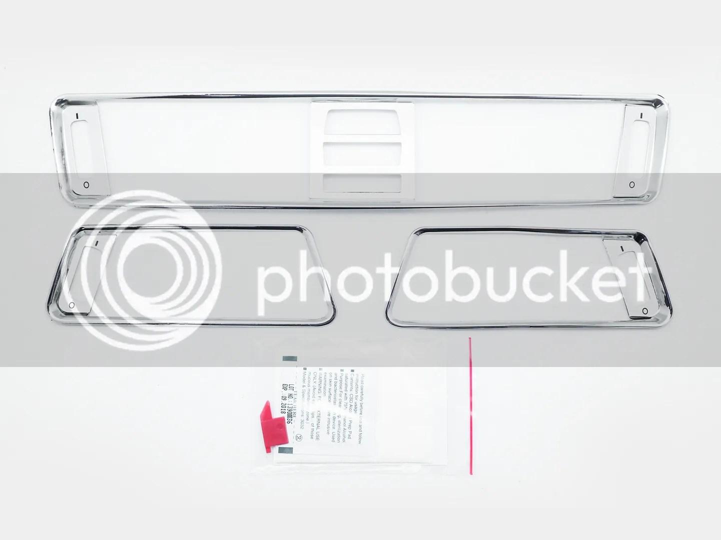 Aluminum Interior Chrome A C Air Vent Surround Rims Covers