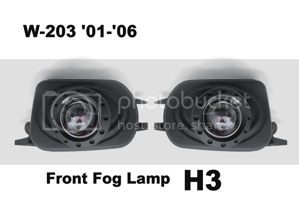 medium resolution of details about 2 black replacement projectors fog lights emark for mercedes benz w203 c class