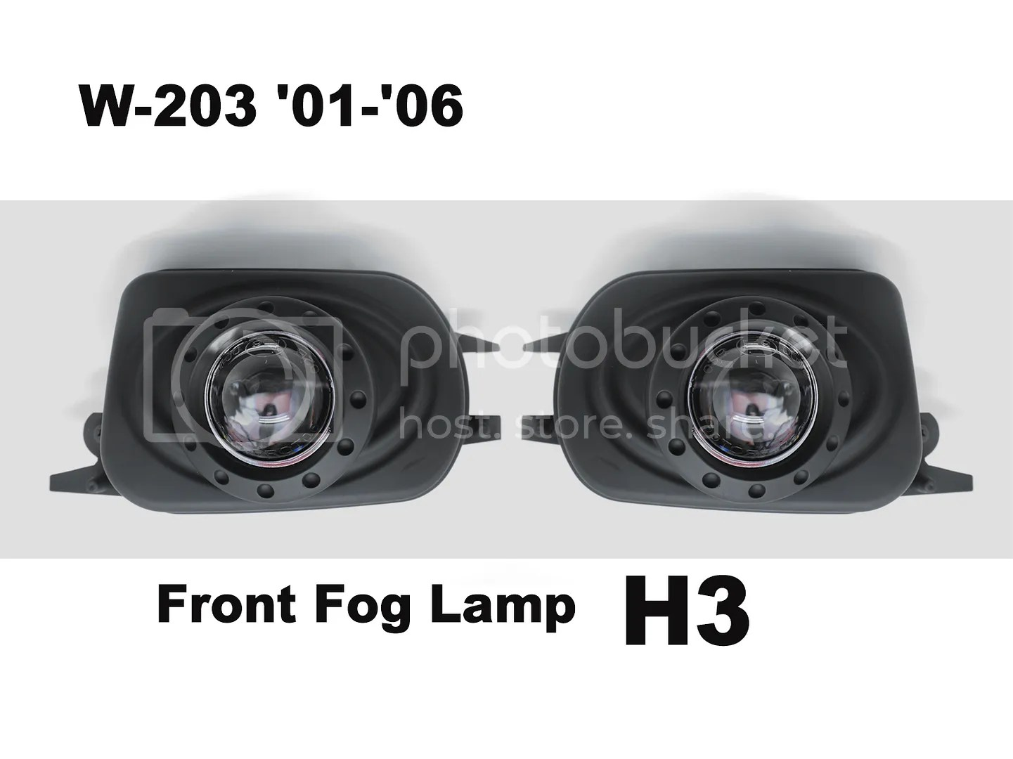 hight resolution of details about 2 black replacement projectors fog lights emark for mercedes benz w203 c class