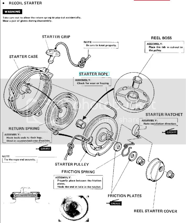 Honda hr215 blade clutch assembly