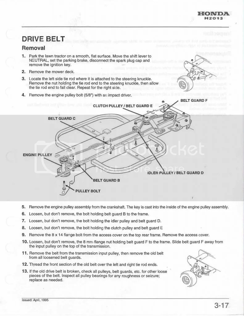 medium resolution of honda h2013 drive belt honda 2113 belt diagram