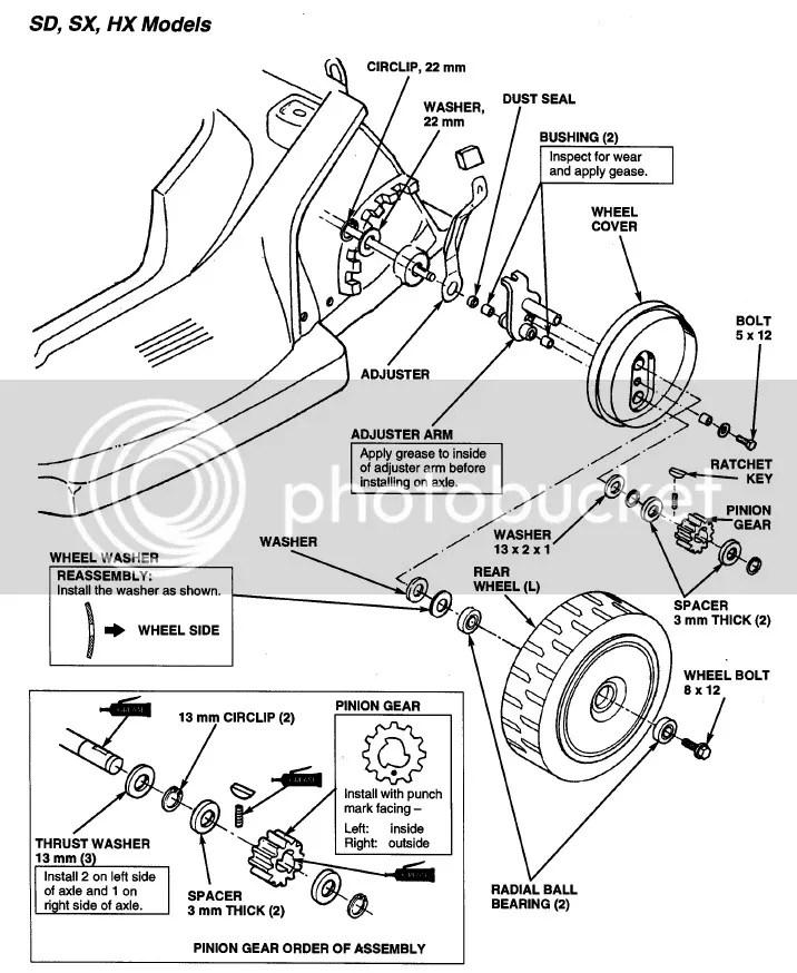 Old Honda 215 rear wheel..
