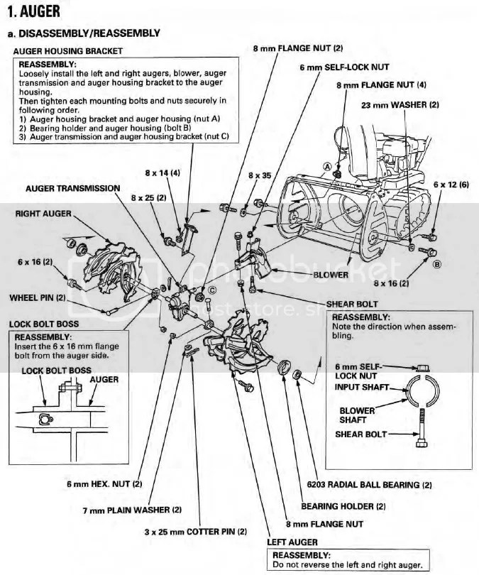 Honda Hs928 Snowblower Shop Manual Download