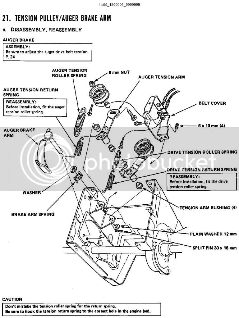 Honda hs55 snowblower auger belt