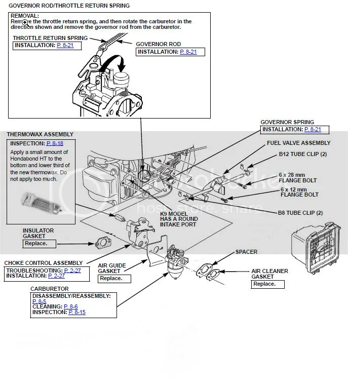 Honda HRR2169KVA Carb Install