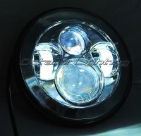 7 034 Motorcycle Chrome Projector Daymaker HID LED Light ...