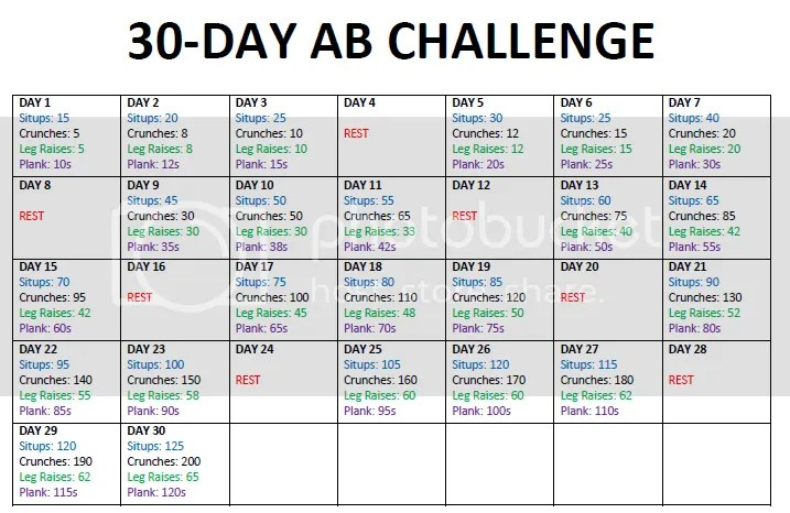 It's just a photo of Plank Challenge Printable in shape