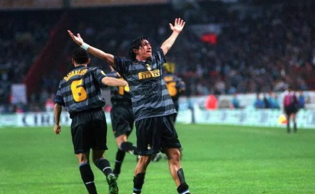 Inter Milan 97 98 9 Zamorano Uefa Cup Final 3rd Awaykit