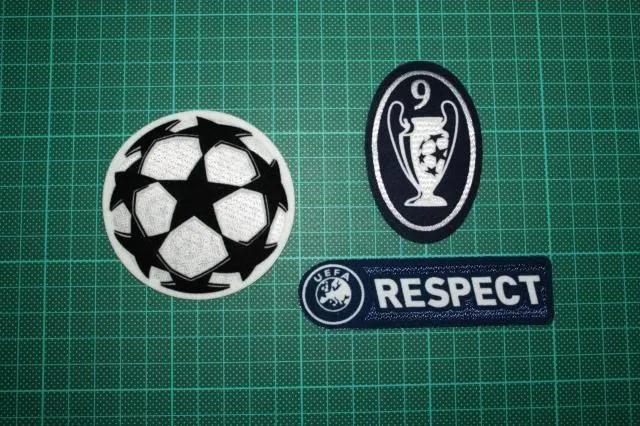 UEFA CHAMPIONS LEAGUE / RESPECT / 9 TIMES TROPHY BADGES ...