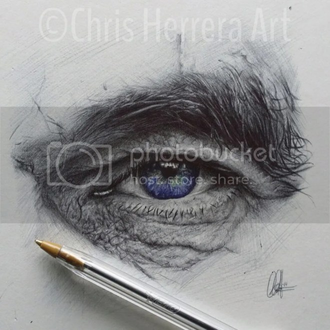 biro drawing by chris herrera