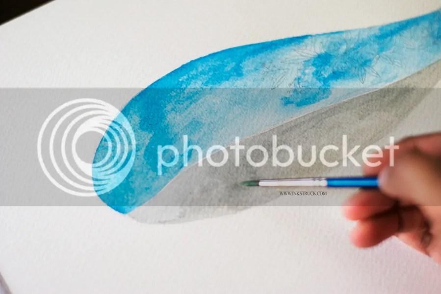 Watercolor floral whale illustration tutorial - Zakkiya Hamza | Inkstruck Studio