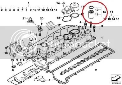 OIL SEPARATOR FILTER FOR BMW 3, 5, 7, X5, E46, E39, E38