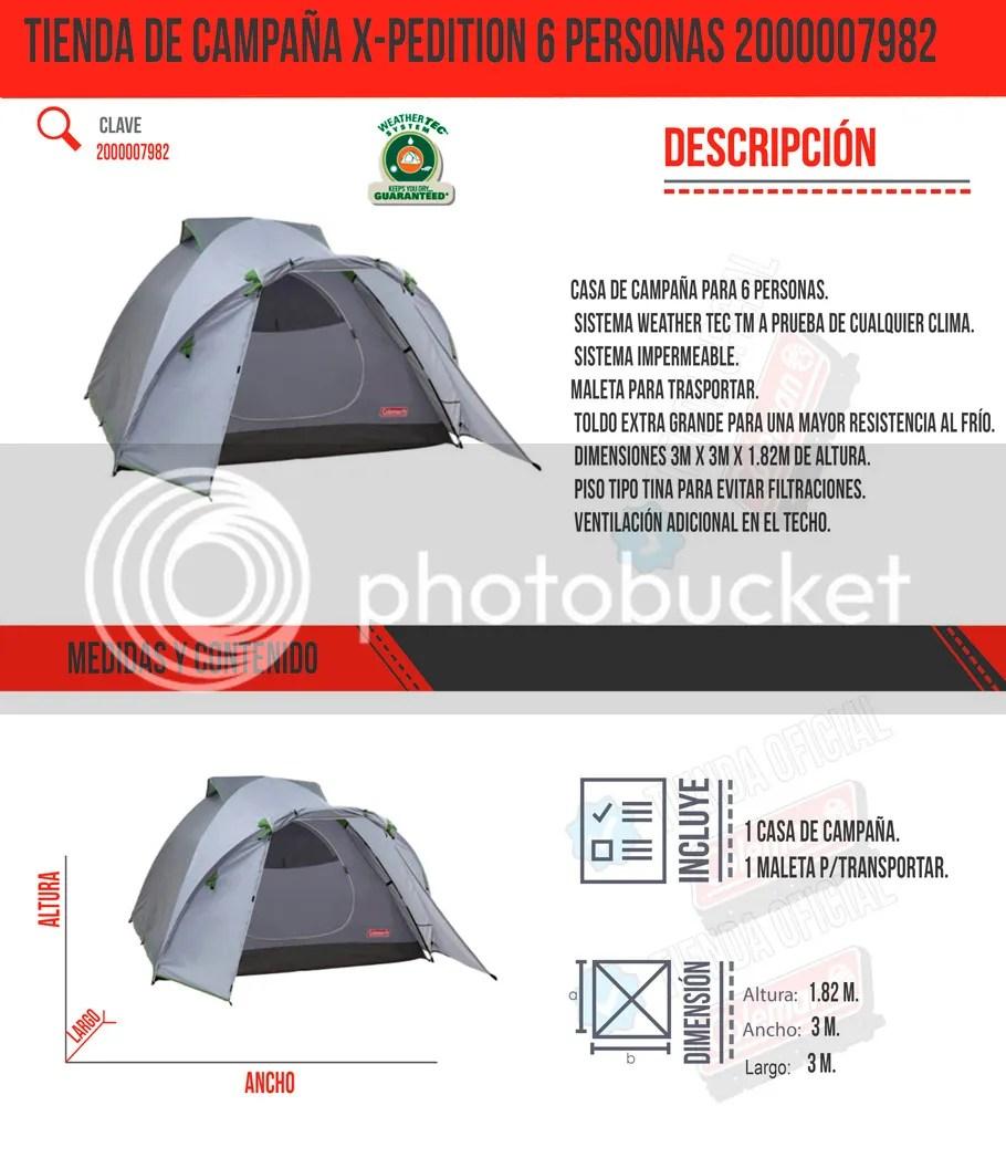 Tienda De Campaa Xpedition 6 Personas 2000007982 Coleman