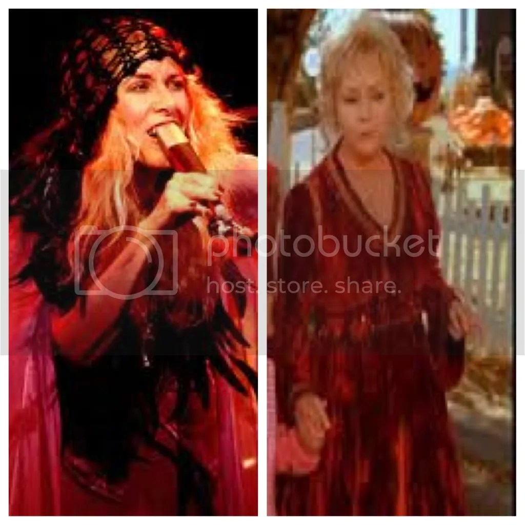 It appears that everyone in Halloweentown is in costume, so who knows, maybe Aggie is going as Stevie Nicks this year.
