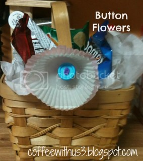 Button Flowers Basket