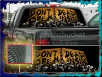 "Zombie, The Walking Dead ""Truck Rear Window Graphic"" Free"