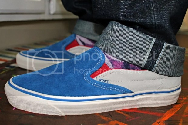 tmrsn - Vault x WTAPS OG Slip-On LX Red/White/Blue
