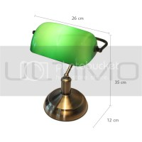 Classic BANKERS DESK LAMP Green Shade Bronze Finish ...