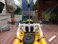 DIY PVC rod holders for Hobie Revo (with measurements)