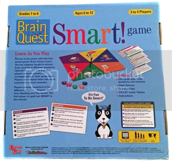 University Games Brain Quest Smart Board Game Learning 1-6 Grade Homeschool