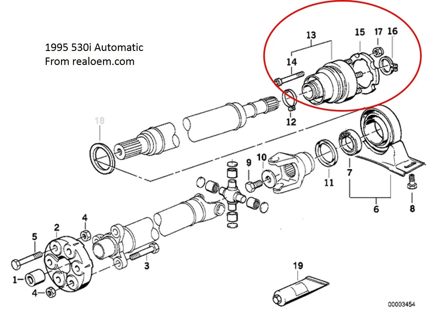 1995 530i Driveshaft Center Support Replacement