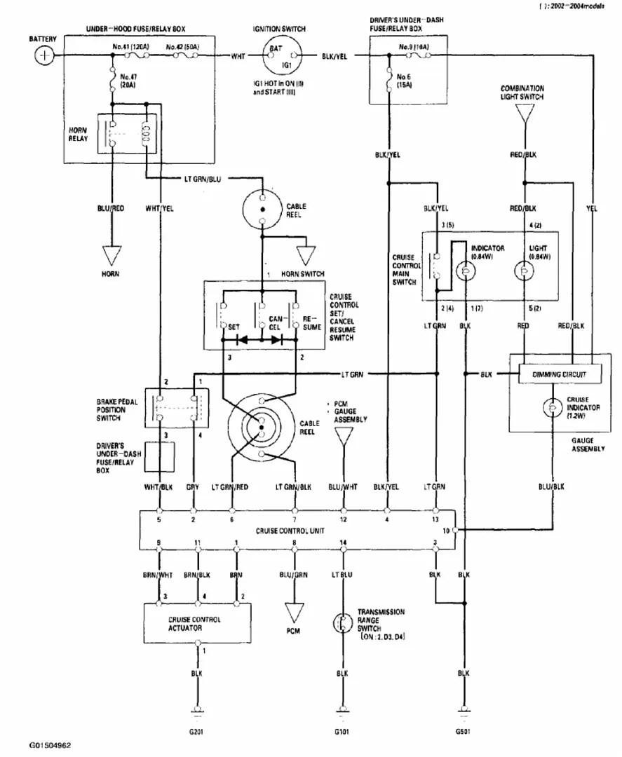 2004 Honda Accord Cruise Control Wiring Diagram : 47