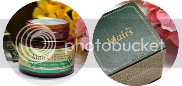 Klairs Rich Moist Soothing Cream and Laneige Power Essential Skin Refiner Moisture