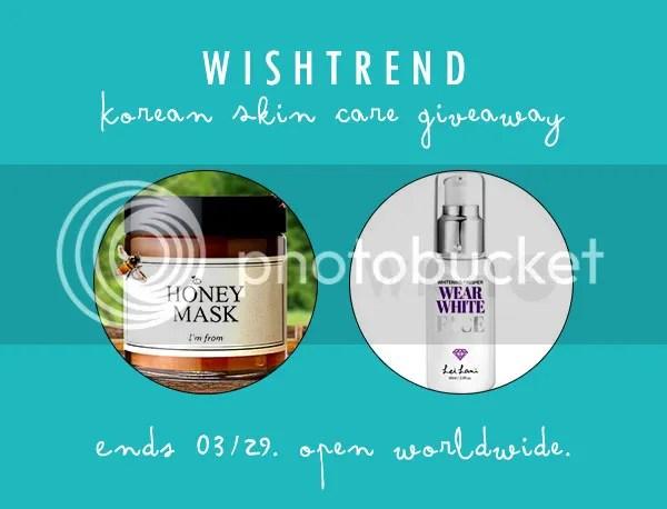 Wishtrend Korean Skin Care Giveaway