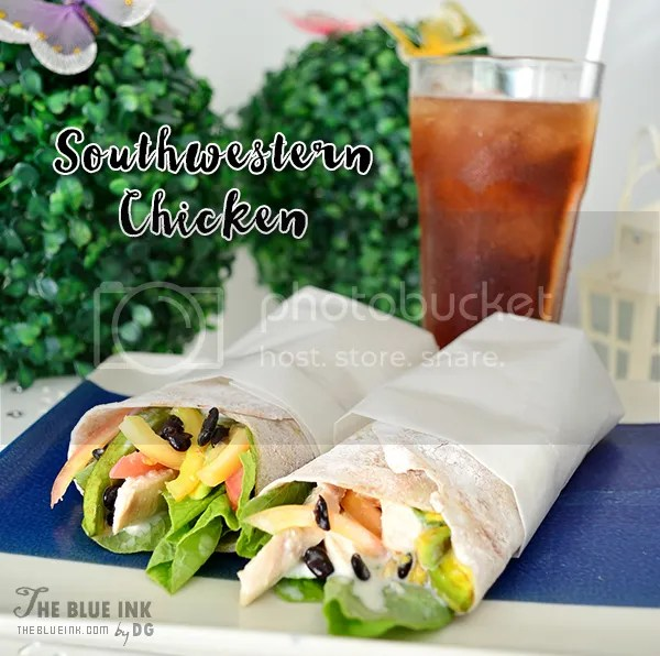Southwestern Chicken Wrap - Yummy Cupcakes and Sandwiches at Bacolod Cupcake Cafe, Inc.