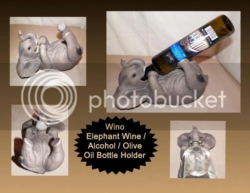 NEW WINO BABY ELEPHANT WILDLIFE DECORATIVE WINE ALCOHOL