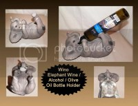 NEW WINO BABY ELEPHANT WILDLIFE DECORATIVE WINE ALCOHOL