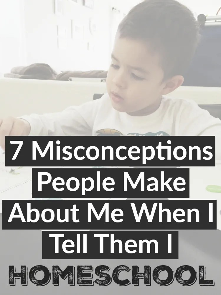 7 misconceptions make about me when I tell them I homeschool (no, I am not patient!)