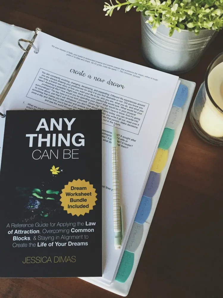 How I organize my law of attraction worksheets that come with the book Anything Can Be