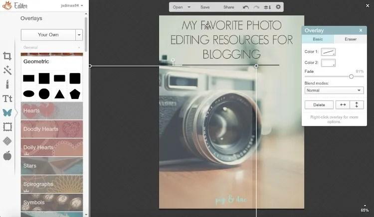 Using Picmonkey for editing blog photos