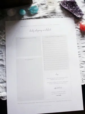 Law of attraction worksheet bundle
