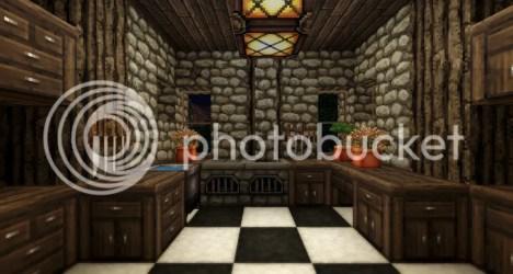 minecraft medieval kitchen interior fireplace forums